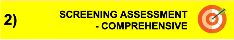 Screening Assessment - Comprehensive